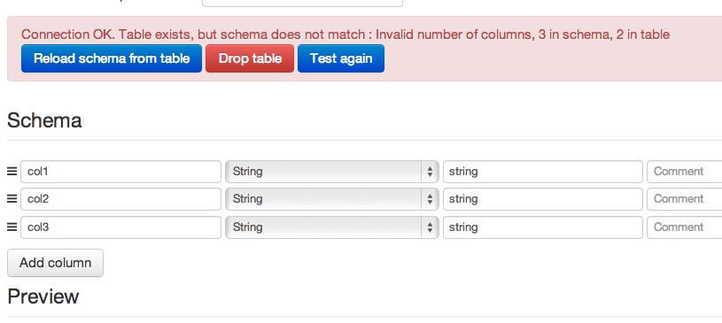 Handling of schemas — Data Science Studio 2 1 4 documentation