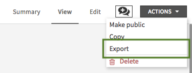Exporting dashboards to PDF or images — Dataiku DSS 5 1